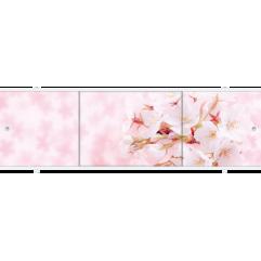 Экран под ванну раздвижной 170 см Метакам Премиум А розовая сакура