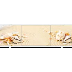 Экран под ванну раздвижной 170 см Метакам Премиум АРТ бежевый песок с ракушками
