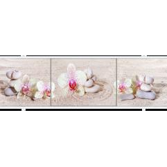 Экран под ванну раздвижной 170 см Метакам Премиум АРТ цветок