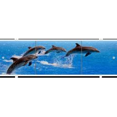 Экран под ванну раздвижной 150 см Метакам Премиум АРТ дельфины