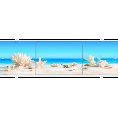 Экран под ванну раздвижной 150 см Метакам Премиум АРТ ракушки