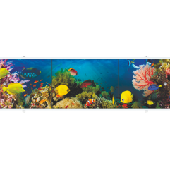 Экран под ванну раздвижной 170 см Метакам Премиум АРТ рыбки