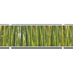 Экран под ванну раздвижной 170 см Метакам Премиум АРТ зеленый бамбук