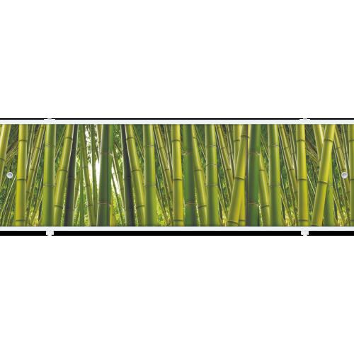 Экран под ванну раздвижной 150 см  Метакам Премиум АРТ зеленый бамбук