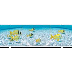 Экран под ванну раздвижной 170 см Метакам Премиум АРТ желтые рыбки