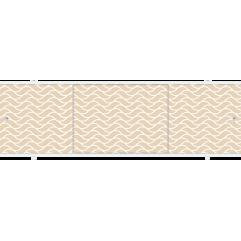 Экран под ванну раздвижной 170 см Метакам Премиум БН бежевый изгиб