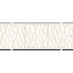 Экран под ванну раздвижной 170 см Метакам Премиум БН бежевый узор