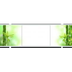 Экран под ванну раздвижной 170 см Метакам Премиум Арт БН зеленый бамбук