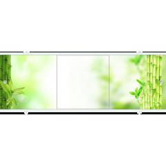 Экран под ванну раздвижной 170 см Метакам Премиум БН зеленый бамбук 1
