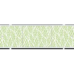 Экран под ванну раздвижной 170 см Метакам Премиум А БН зеленый листик