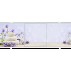 Экран под ванну раздвижной 150 см Метакам Премиум АРТ лаванда