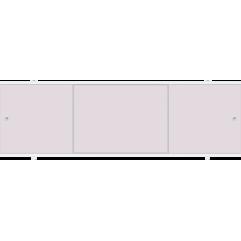 Экран под ванну раздвижной 170 см Метакам Премиум лаванда