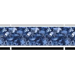 Экран под ванну раздвижной 170 см Метакам Кварт черно-синий