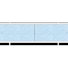 Экран под ванну раздвижной 150 см Метакам Кварт голубой иней