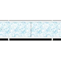 Экран под ванну раздвижной 150 см Метакам Кварт голубой мрамор