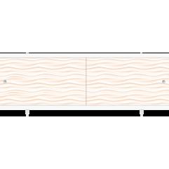 Экран под ванну раздвижной 170 см Метакам Кварт песочный