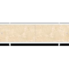 Экран под ванну раздвижной 170 см  Метакам Ультралегкий бежевый мрамор
