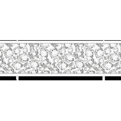 Экран под ванну раздвижной 170 см Метакам Ультралегкий черно-белый кварц