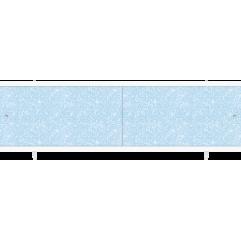 Экран под ванну раздвижной 170 см Метакам Ультралегкий голубой иней