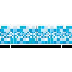 Экран под ванну раздвижной 170 см Метакам Ультралегкий голубой кафель