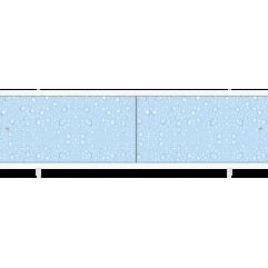 Экран под ванну раздвижной 170 см Метакам Ультралегкий синие капли
