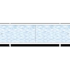 Экран под ванну раздвижной 170 см Метакам Ультралегкий синяя мозаика