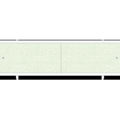 Экран под ванну раздвижной 170 см Метакам Ультралегкий зеленый иней