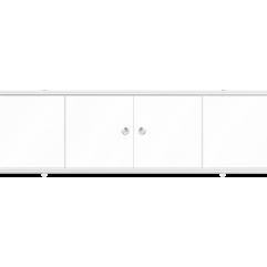Экран под ванну раздвижной 150 см Метакам Купе белый глянцевый