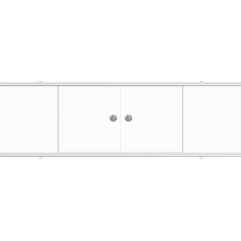 Экран под ванну раздвижной 170 см Метакам Купе белый матовый