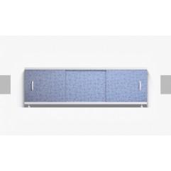 Экран под ванну раздвижной 170 см Alavann Оптима синий узор