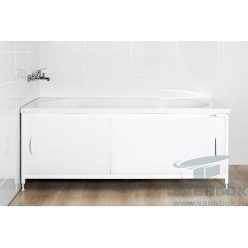 Экран под ванну раздвижной 150 см Ваннбок Белый