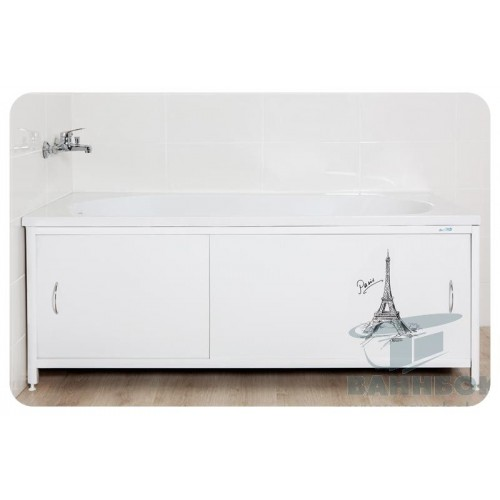 Экран под ванну раздвижной 150 см Ваннбок Париж