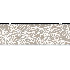 Экран под ванну раздвижной 170 см Метакам Премиум А ПО коричневые листья