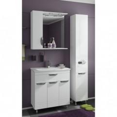 Комплект мебели для ванной Франческа Доминго 75 с 3 дверцами белый