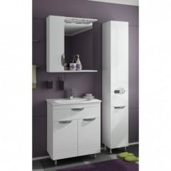 Комплект мебели для ванной Франческа Доминго 70 с 1 ящиком белый