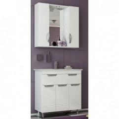 Комплект мебели для ванной Франческа Доминго 80 с 1 ящиком белый