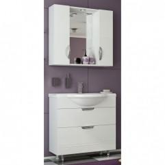 Комплект мебели для ванной Франческа Доминго 85 (2 ящика) белый