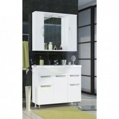 Комплект мебели для ванной Франческа Доминго 90 белый
