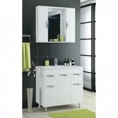 Мебель для ванной Франческа Доминго М 90 с 3 дверцами + 2 ящика белый