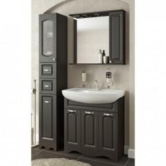 Комплект мебели для ванной Франческа Империя 80 с 3 дверцами венге