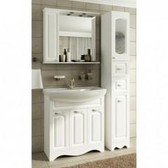 Комплект мебели для ванной Франческа Империя 80 с 3 дверцами белый