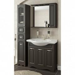 Комплект мебели для ванной Франческа Империя 85 с 3 дверцами венге