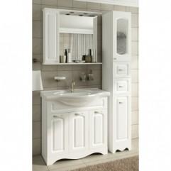 Комплект мебели для ванной Франческа Империя 85 с 3 дверцами белый
