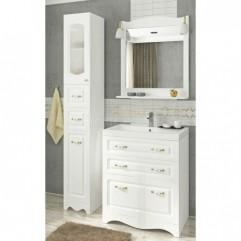 Комплект мебели для ванной Франческа Империя Н 70 белый