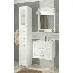 Комплект мебели для ванной Франческа Империя П 60 подвесной белый
