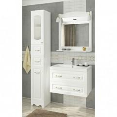 Комплект мебели для ванной Франческа Империя П 70 подвесной белый