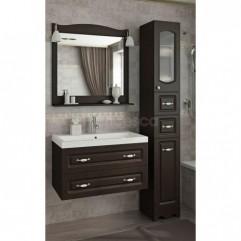Комплект мебели для ванной Франческа Империя П 80 подвесной венге