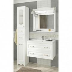 Комплект мебели для ванной Франческа Империя П 80 подвесной белый