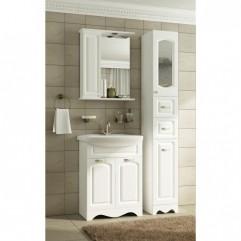 Комплект мебели для ванной Франческа Империя 55 с 2 дверцами белый