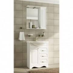Комплект мебели для ванной Франческа Империя 70 (3 ящика) белый